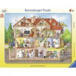 Ravensburger-06154 Puzzle Cadre - Regarde dans la maison