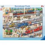 Ravensburger-06161 Puzzle Cadre - A la Gare