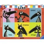 Ravensburger-06166 Puzzle Cadre - Loup