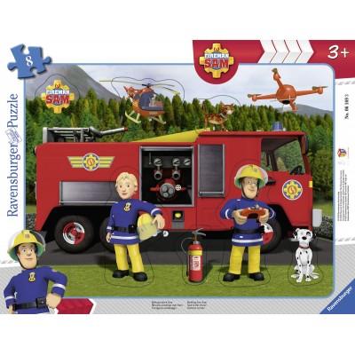 Ravensburger-06169 Puzzle Cadre - Sam le Pompier