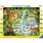 Ravensburger-06171 Puzzle Cadre - Jungle