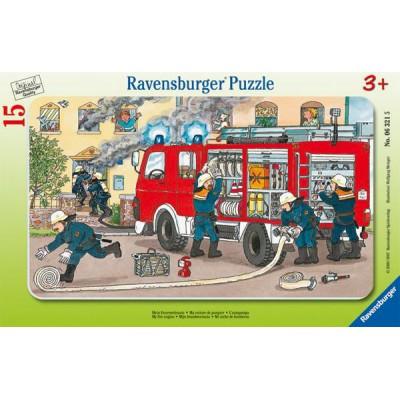 Ravensburger-06321 Puzzle Cadre - Les Pompiers