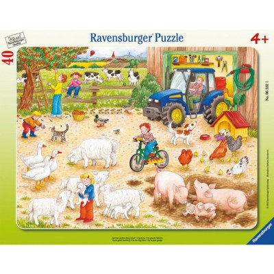 Puzzle Ravensburger-06332 A la ferme
