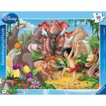 Ravensburger-06398 Puzzle cadre - Livre de la jungle : Mowgli et Baloo