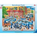 Ravensburger-06642 Puzzle Cadre - Intervention Policière
