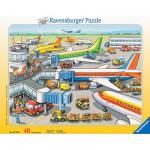 Ravensburger-06700 Puzzle Cadre - Aéroport : Zone d'embarquement