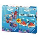 Ravensburger-06871 3 Puzzles Dory + Memory
