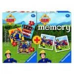 Ravensburger-06910 3 Puzzles + Memory - Sam le Pompier