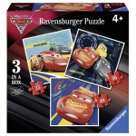 Ravensburger-06925 3 Puzzles - Cars 3
