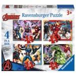 Ravensburger-06942 4 Puzzles - Marvel Avengers