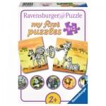 Ravensburger-06943 9 Puzzles - Familles d'Animaux