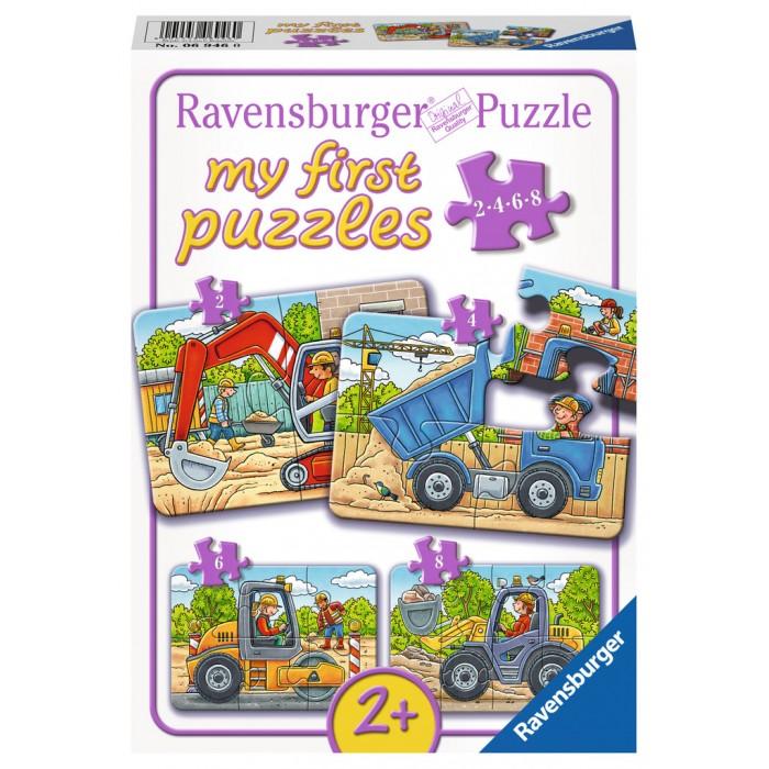 4 Puzzles - My first Puzzles - Mes Véhicules de Construction Préférés