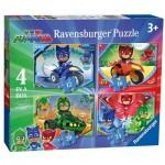 Ravensburger-06974 4 Puzzles - PJ Masks