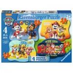 Ravensburger-06979 4 Puzzles - Pat Patrouille