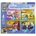 Ravensburger-07033 4 Puzzles - Paw Patrol