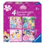 Ravensburger-07132 4 Puzzles - Disney Princesses