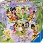 Ravensburger-07193 3 Puzzles - Disney Fairies
