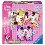Ravensburger-07244 3 Puzzles - Minnie