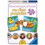 Ravensburger-07331 Puzzle 9 x 2 pièces : Adorables animaux