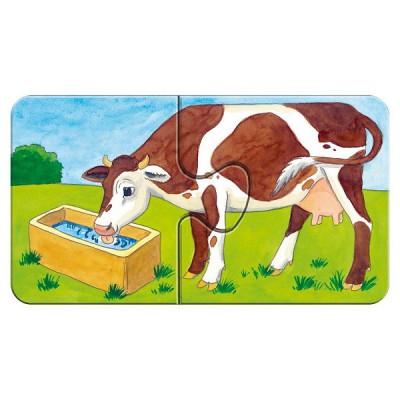 Ravensburger-07333 9 Puzzles - A la ferme