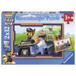 Ravensburger-07591 2 Puzzles - Pat' Patrouille