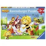 Ravensburger-07594 2 Puzzles - Maya l'Abeille