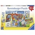 Ravensburger-07611 2 Puzzles - Entrez !