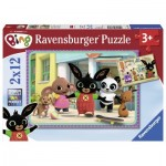 Ravensburger-07618 2 Puzzles - Bing
