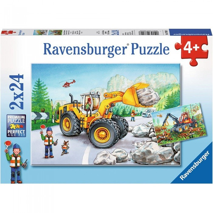 2 Puzzles - Tractopelle et Tracteur Forestier