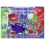Ravensburger-07825 2 Puzzles - PJ Masks