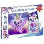 Ravensburger-08027 3 Puzzles - My Little Poney