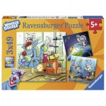 Ravensburger-08045 3 Puzzles - Woozle Goozle