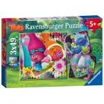 Ravensburger-08055 3 Puzzles - Trolls
