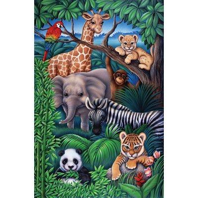Puzzle Ravensburger-08601 Animaux de la jungle