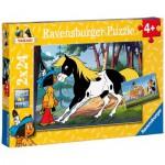 Ravensburger-08869 2 Puzzles - Yakari