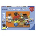 Ravensburger-08898 2 Puzzles - Petit Ours Brun fait les Courses