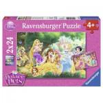 Ravensburger-08952 2 Puzzles - Disney Palace Pets