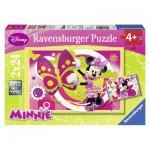 Ravensburger-09047 2 Puzzles - Une Journée avec Minnie
