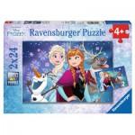 Ravensburger-09074 2 Puzzles - La Reine des Neiges