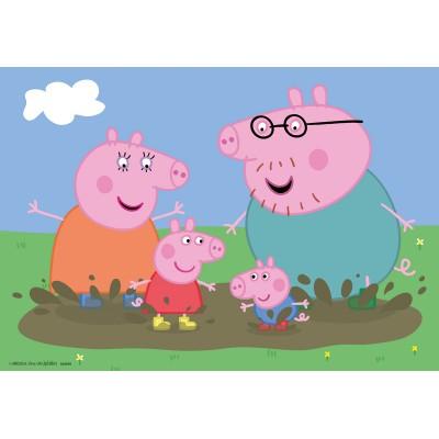 Ravensburger-09082 2 Puzzles - Peppa Pig