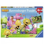Ravensburger-09093 2 Puzzles - Maya l'Abeille