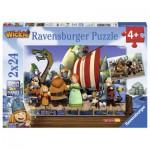 Ravensburger-09094 2 Puzzles - Wickie et ses Amis