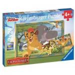 Ravensburger-09104 2 Puzzles - Le Roi Lion