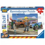 Ravensburger-09151 2 Puzzles - Bob le Bricoleur