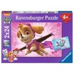 Ravensburger-09152 2 Puzzles - Pat' Patrouille