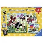 Ravensburger-09209 3 Puzzles - La Petite Taupe