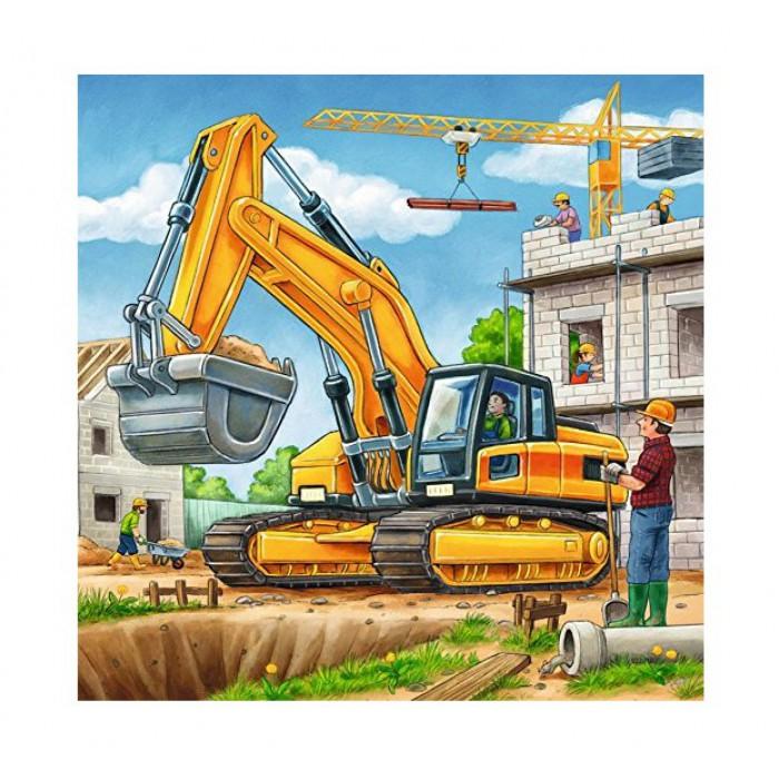 3 Puzzles - Gros Véhicules de Construction