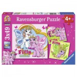 Ravensburger-09251 3 Puzzles - Filly Butterfly