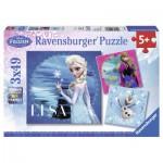 Ravensburger-09269 3 Puzzles - Reine des Neiges