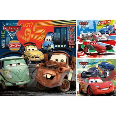Ravensburger-09281 3 Puzzles - Cars 2 : Course autour du monde
